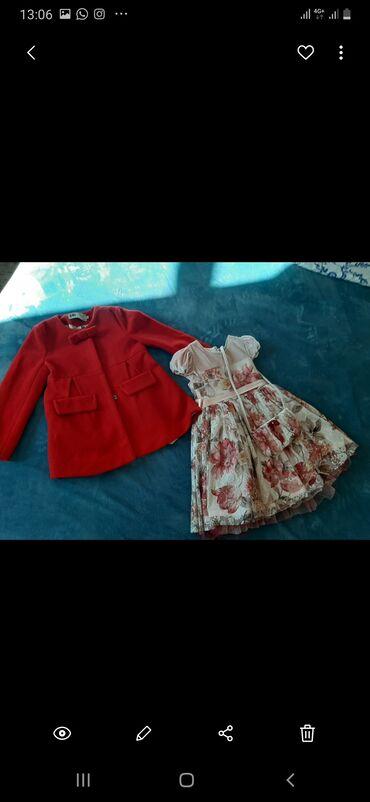 Платье и пальто на девочку 3-4 лет