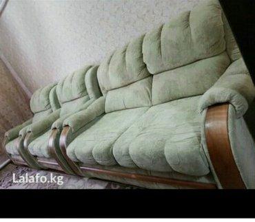 продам б/у диван с двумя креслами в отличном состоянии как новый польз в Бишкек