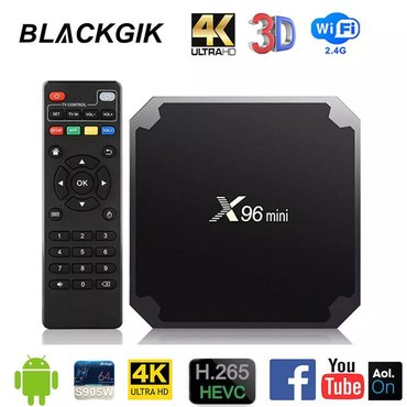 Android tv box  model: x96 mini(original AMLOGIC prosessor) Android 7