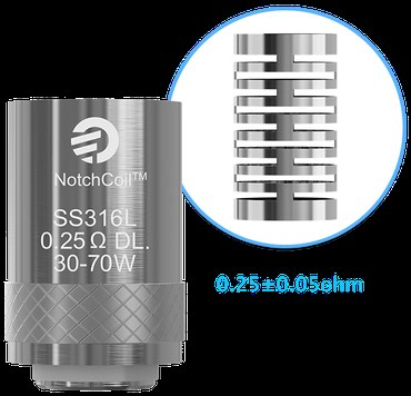 Vape original Joyetech NotchCoilTM 0.25ohm DL. Head elektronska - Kraljevo