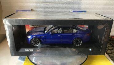 Avtomobil modelləri - Azərbaycan: Коллекционная модельBMW M5 F90 BMW M Power marina blue 2018Дилеровская