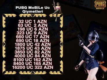"""flaşkart qiymətləri - Azərbaycan: Pubg uc satisi*Pubg Mobile """"UC"""" Qiymətləri [ Normal Mod ]**PUBG"""