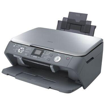 Принтеры - Кыргызстан: Цветной фото-принтер, МФУ 3 в 1 Epson RX520 с СНПЧ / Доноркой Высокая