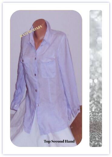 3.5.2. Odlična lanena košulja XL ★TOP CENA  -25.9. ✼Lila lanena košulj