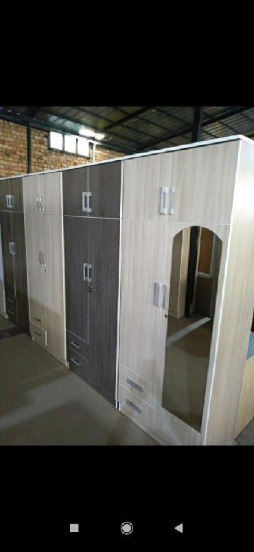шкаф двухдверный в Кыргызстан: Новые двухдверные шкафы в наличииРоссийский ламинатШирина 80смВысота