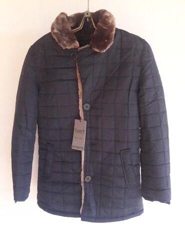 Мужская одежда - Кара-Балта: Куртка мужская, темно-синяя, без капюшона, абсолютно новая (остаток от