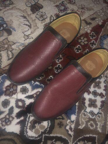 Кожаный макасы 2 раза одевал размер 44 оригинал обувь в оше