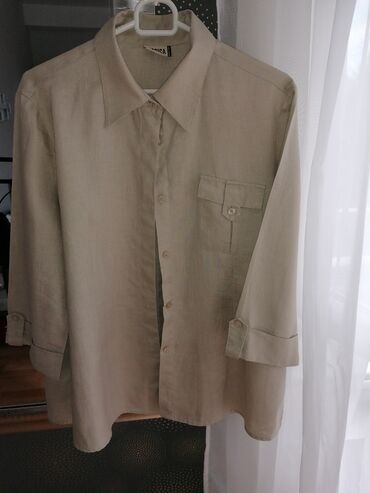 Military pantalone - Srbija: 100% lanena kosulja / bluza military look. Vel M