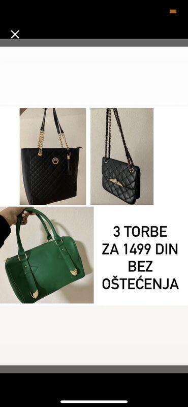 3 torbe za 1499Bez oštećenjaSaljem dodatne slikeSlanje post exsprsom