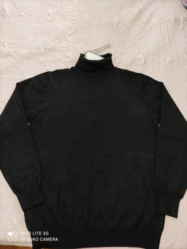 Водолазка мужская, теплая, новая, цвет черный, размер 5xl на 54-56