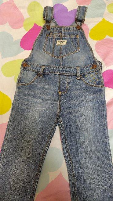 джинсовое платье на пуговицах в Кыргызстан: Джинсовый комбинезончик,фирмы carter's, на стройных девочек, размер