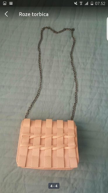 Tašne - Upotrebljen - Pozarevac: Nezno roze torbica Malo nosena