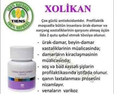 Vitaminlər və BAƏ Sumqayıtda: Xolikan(resveratrollu kapsullar) ürək-damar,beyin-damar