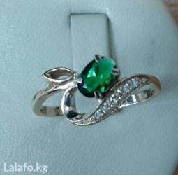 Кольцо с бриллиантами и изумрудом в Бишкек - фото 2