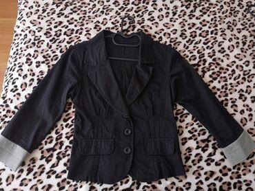 Crni sako, kao nov, velicina xs-s