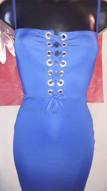 Haljine - Sombor: Blondy plava atraktivna haljina   Haljina je nova sa etiketom. Velicin