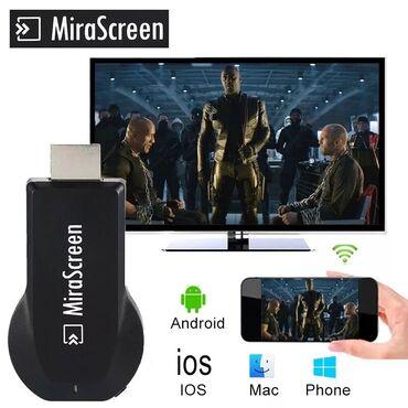 samsung wifi адаптер в Кыргызстан: Mirascreen 2.4ghz wifi miracast адаптер v50+бесплатная доставка по