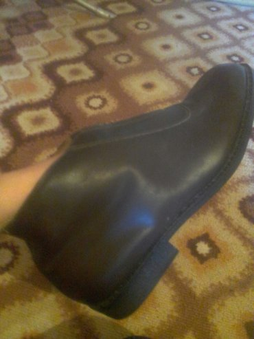 мужские новые кожаные коричневые сапоги натуральный мех. 44 размер. в Токмак