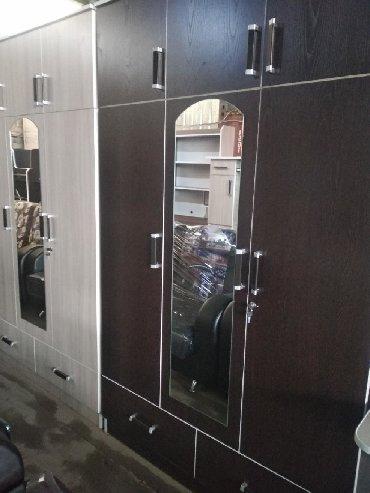 детские-шкафы-икеа в Кыргызстан: Шкафы трёх дверные с зеркалом для спальной комнаты. доставка по городу