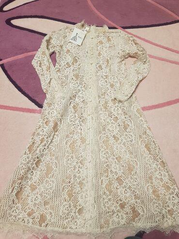 Женская одежда - Кок-Джар: Продаю гипюровое платье новое . 2000с