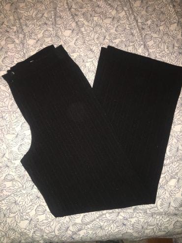 Poslovne pantalone - Srbija: Crne poslovne pantalone nove sa strasom Velicina 36