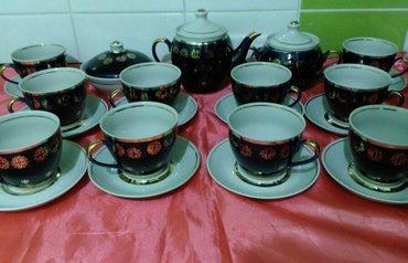 Новый сервиз СССР, фарфор кобальт на 10 персон - чайник, масленка, сах в Бишкек