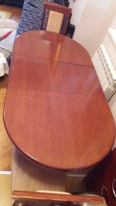 Prodajem  sto za rucavanje sa 4 stolice puno drvo hrast sto 120×80 kad - Beograd