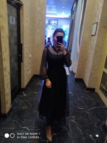 черное платье на свадьбу в Кыргызстан: Продаю платье 42размер одела всего один раз на свадьбу 1000сом