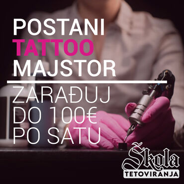 Tehnika - Srbija: KURS TETOVIRANJA - Nastava Online + Poklon Tattoo oprema  skolatetovir