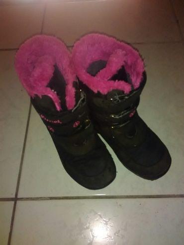 Zimske cizme za devojcice br 35, tople. Nosene, ocuvane - Sombor