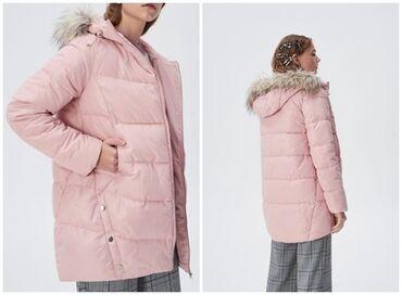 Sinsay roze jakna sa kapuljacom, odgovara za M velicinu. Kupljena u