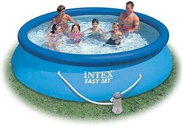 Intex hovuzlarıDiametri 3,05 metr, hündürlük 0,76 metrYuxarı hissə