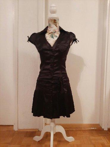 Kosulja-haljinica-pre-stoji-markirana - Srbija: Satenska elegantna haljinica Savrseno ocuvana, jako lepo stoji