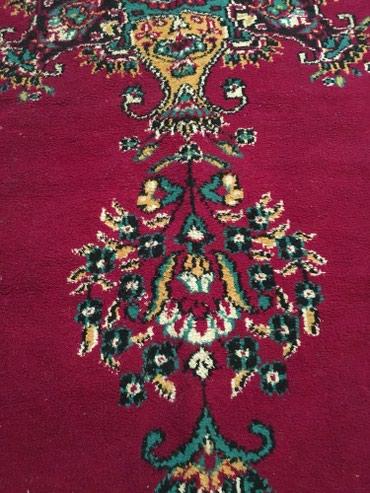Ковер 2,85/1,85 , темно-бордовый,с бахрамой в Бишкек