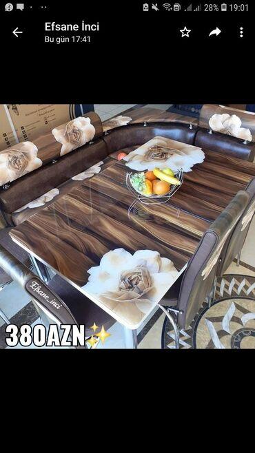 Divan +masa +2stul 380Azn Turkiye istehsalidir Reng secimi var Masa