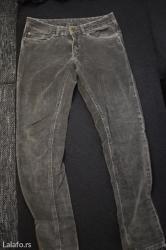 Rasprodaja! Snizeno! Sive plisane pantalone,boomerang brenda,velicina - Pozega