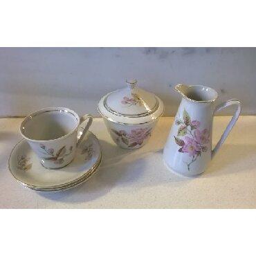 Ελλιπές σετ καφέ παλαιό αποτελούμενο από γαλατιέρα, ζαχαριέρα, 1
