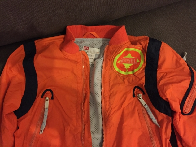 Unique style diesel kids orange light jacket