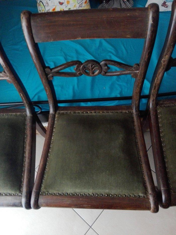4 καρέκλες ξύλινες τραπεζαρίας παλιές. Photo 0