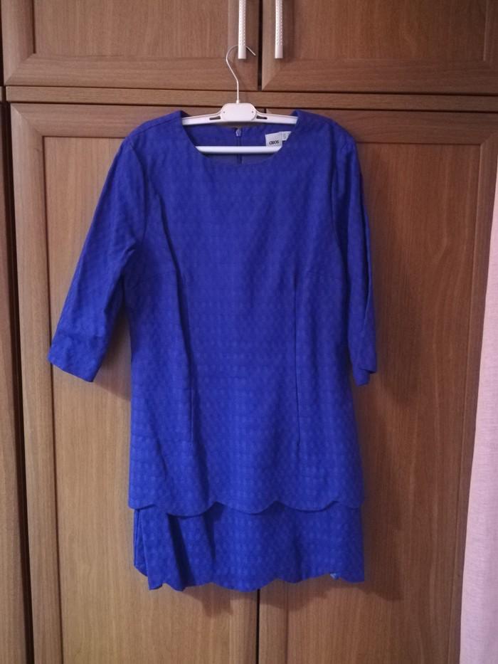 Κοντό φόρεμα μπλε με 3/4 μανίκι (δε φορέθηκε ποτε) νούμερο 42 σε Περιφερειακή ενότητα Θεσσαλονίκης