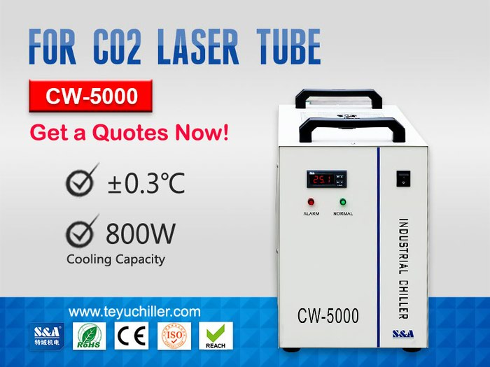Portable Water Chiller CW 5000 for CO2 Laser in Kathmandu