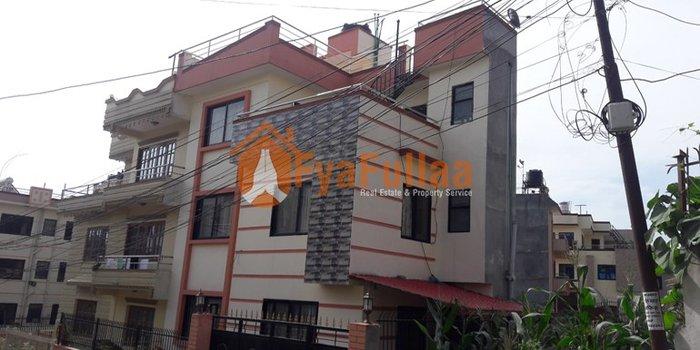A modern new bungalow type house having land area 0-3-0-1, facing in Kathmandu