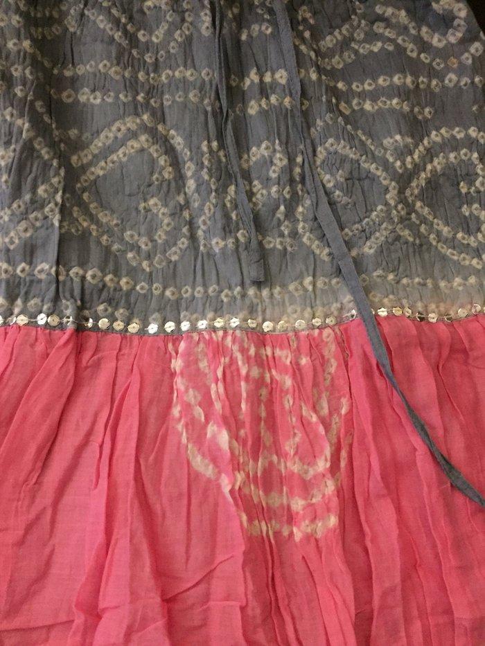 Φούστα βαμβακερι καλοκαιρινή με κορδόνι στη μέση . Boho με λιγες παγιε. Photo 2