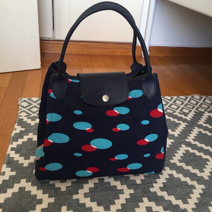 Longchamp canvas υφασμάτινη τσάντα. Σε σκούρο σε Νέα Σμύρνη