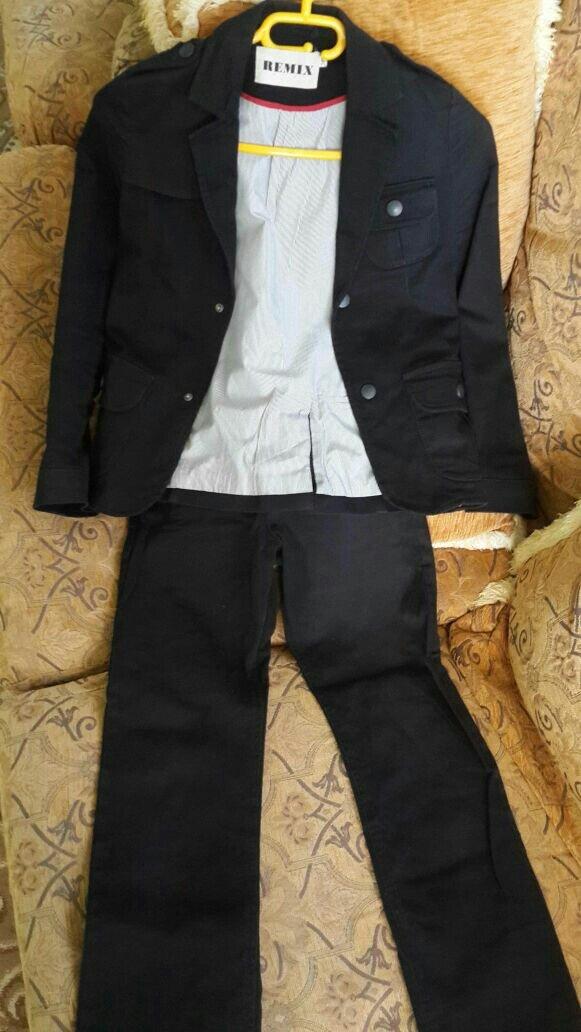 Sumqayıt şəhərində Kostyum пиджак и брюки натуральний коттон черного цвета протзводство П