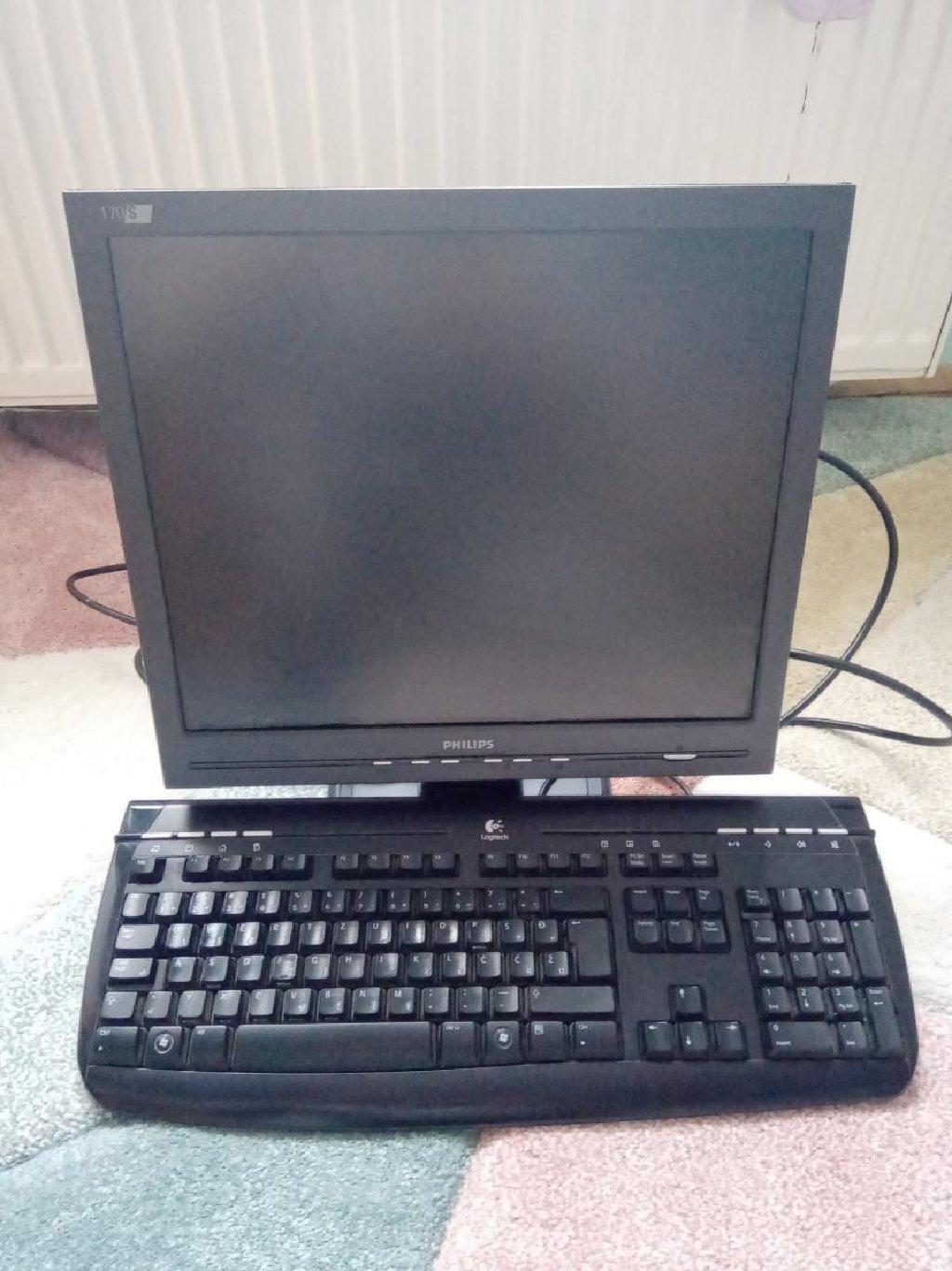Monitor - Philips 170s + tastatura Logitech + POKLON