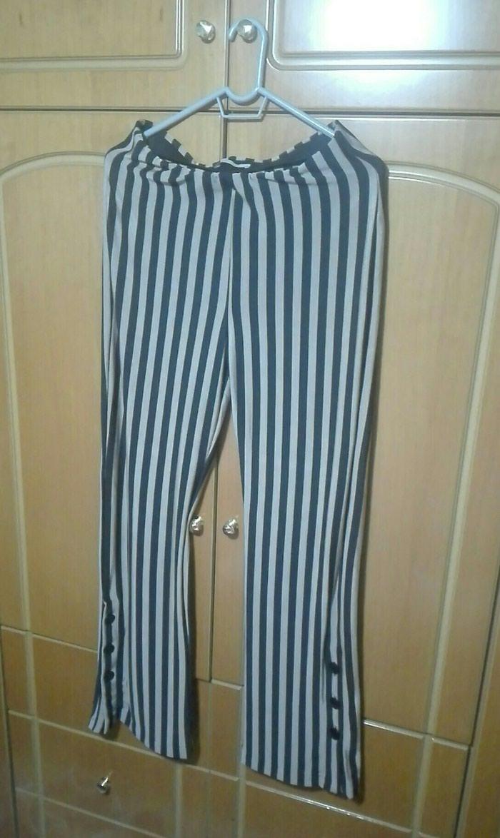 Παντελόνι zara medium ριγε ελαστικό μαύρο μπεζ σε Λαμία