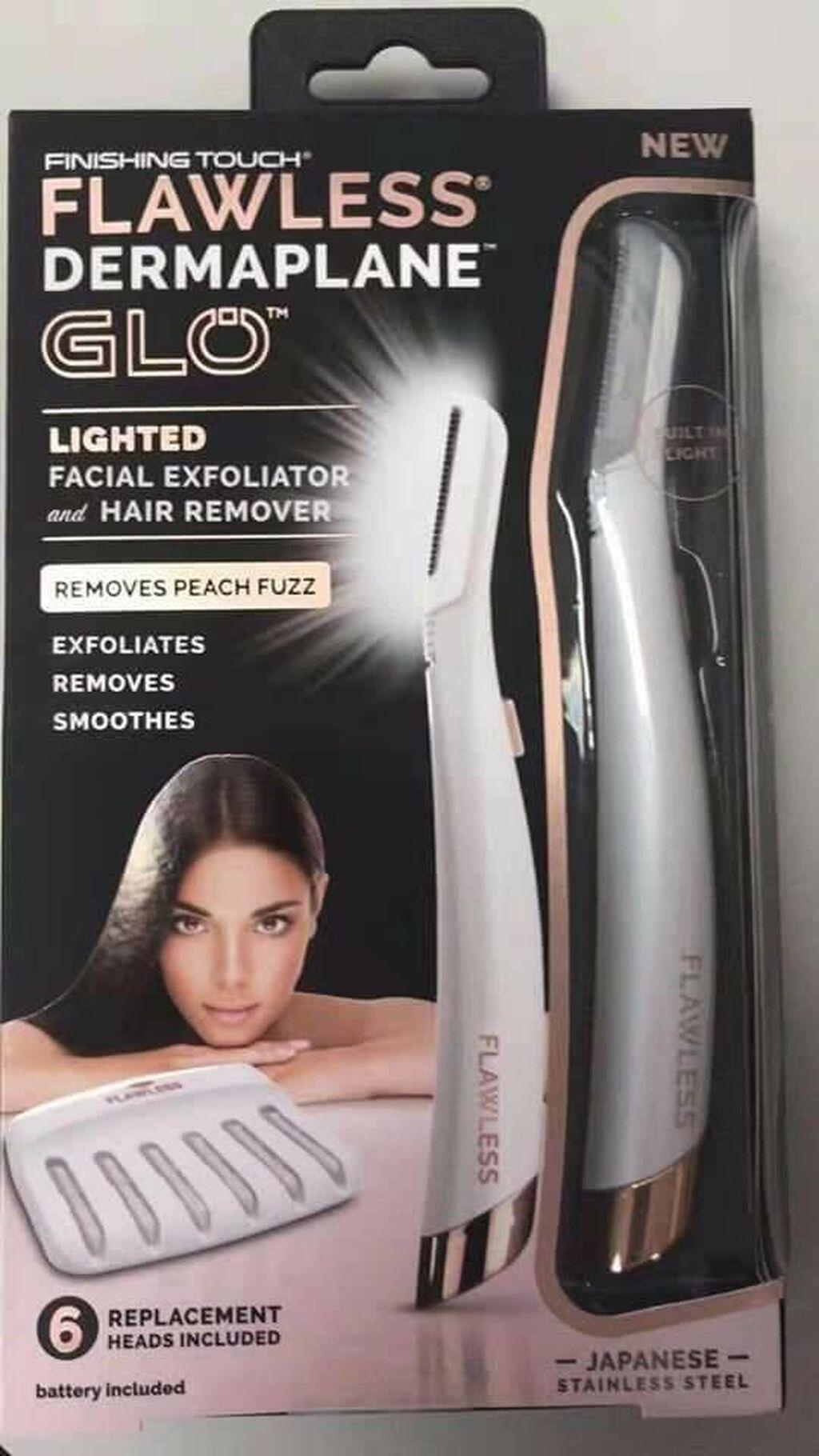 Dostupno Besprekorni Dermaplane Glo odstranjivač dlaka za lice, 6 zamenskih glava
