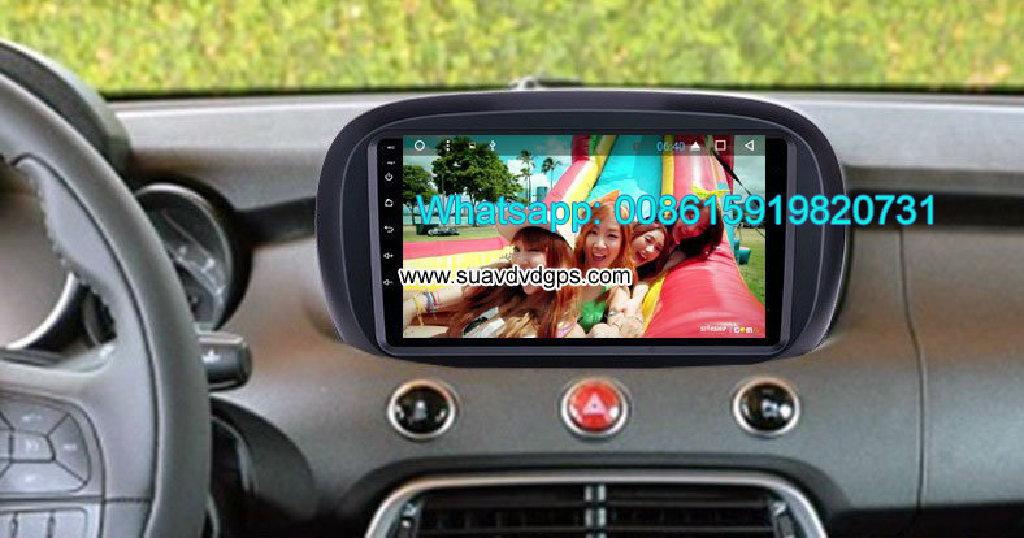 Fiat 500X Tempar Car audio radio android GPS navigation camera