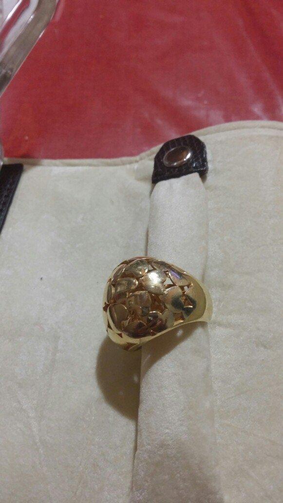 Δακτυλίδι ασημί με επικαλειψη χρυσού . Photo 1